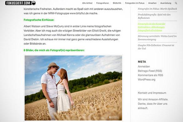 Screenshot Fokussiert.com